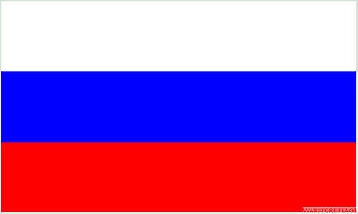 "RUSSIAN FEDERATION 18"" x 12"" FLOOR STANDING FLAG & WOODEN BASE RUSSIA"