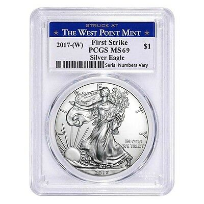 PRESALE - 2017-W 1 oz Silver American Eagle $1 Coin PCGS MS 69 First Strike (Wes