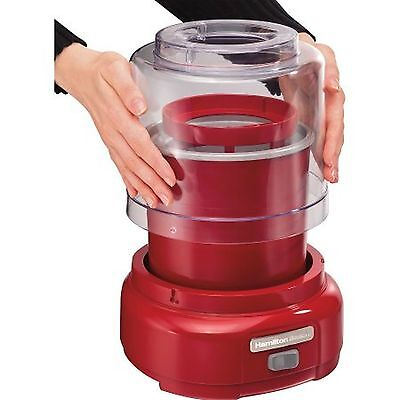 NEW Hamilton Beach 1.5-Qt Ice Cream Maker Red Best Deal on the WEB Model 68881