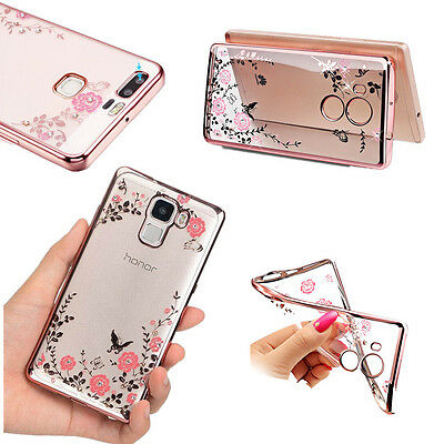 Luxury Clear Diamond Soft TPU Silicone Back Case Cover For Huawei P10 Plus P8 P9
