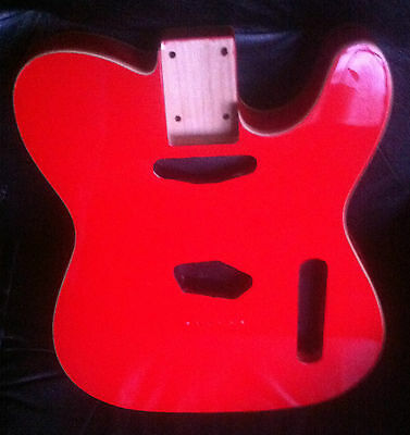 New Tele Type Body /  American Alder  Massiv Erle Gloss Finished... Awesome!!