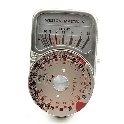 Vintage Weston Master V Light Exposure Meter with Leather Cases, Cone & Manual