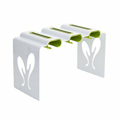 Boon Pouch Rack Baby Food Pouch Organizer, White/Green