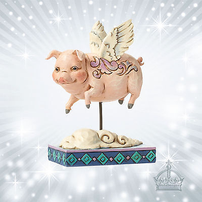 Pig Flying Schwein Jim Shore Heartwood Creek Enesco When Pigs Fly Flügel 4047052
