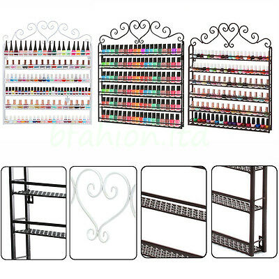 6 Tier Nail Varnish Polish Rack Cosmetic Bottles Wall Holder Display Organizer
