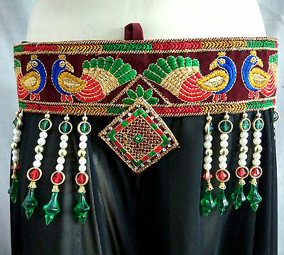 Banjara Belly Dance Belt Tribal Ethnic Clothing Lambani Kutch Gypsy Nomads 36""