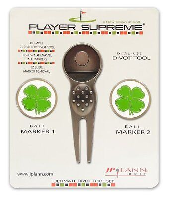 Divot Tool with Two Removable Ball Markers - Choose a Design Style