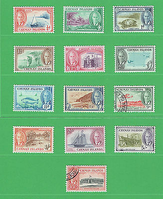 (R070) Cayman Is. 1950 Complete Set of 13 SG135-147 Cat £65.00