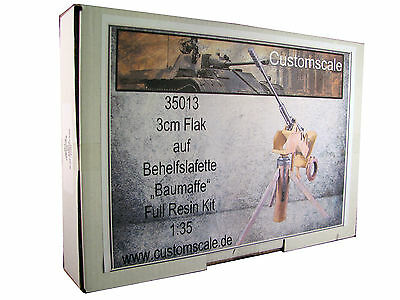 "1:35 35013 3cm Flak auf Behelfslafette ""Baumaffe"" Full Resin Kit Custom-Scale"