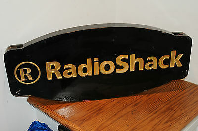 Original Early Radio Shack R Two Sided Sign Advertising Hanging Sign Measures 28