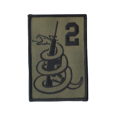 "Hook & Loop 3 3/4"" X 2 1/2"" Embroidered Patch ""2nd Amendment"" ""Don't Tread on Me"
