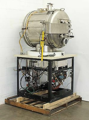 Varian Cylindrical Space Simulation High Vacuum Chamber Stainless Steel (12 CF)