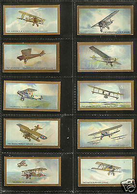 B.A.T. - Aeroplanes (Gilt Border) - 1926 - Set of 50 excellent condition.