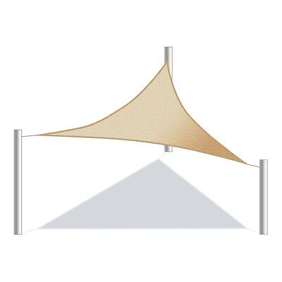 ALEKO Triangular 10'x10'x10' Waterproof Shade Sail Canopy Sun Shelter Sand