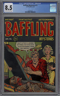 Baffling Mysteries # 13 CGC 8.5 VF+ 1953 PRE CODE HORROR PCH Ace Periodicals