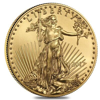 2017 1/4 oz Gold American Eagle $10 Coin BU