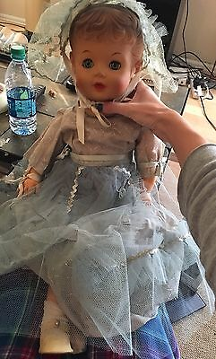 "Large antique Uneeda doll 23"" Molded Hair"