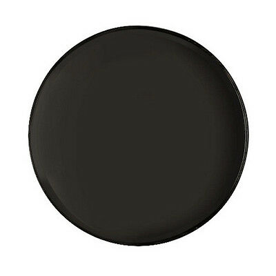 "Cambro 1550CT110 Case of 12 - 16"" Round CamTread Serving Tray Black"