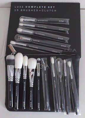 ZOEVA GERMANY Authentic  Makeup Luxe Complete brush Set 15pcs+ Clutch RRP £105