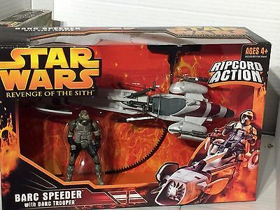 Star Wars, Revenge of the Sith Barc Speeder with Ripcord + Barc Trooper Sealed