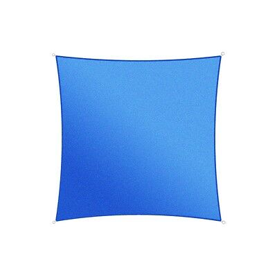ALEKO Waterproof Sun Shade Square 10'x10' Sail Canopy Tent Blue Color