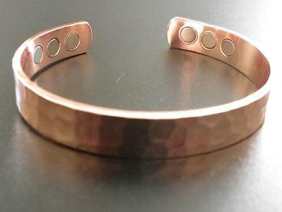 Magnetic Bracelet, Pure Copper with six Neodymium Magnets total 15000 Gauss
