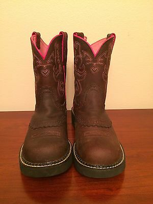 Ariat Brown/Pink FatBaby I I Women's Western Boots Size 8.5