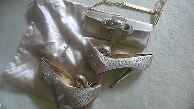 Gorgeous  Baldinini set (shoes and evening purse) with Swarowsky Crysrals