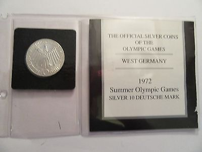 1972 German 10 Mark, silver, West Germany Olympic Games, .3115 ASW