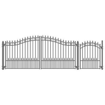 ALEKO St. Petersburg Iron Wrought Dual Driveway Gate 12' And Pedestrian Gate