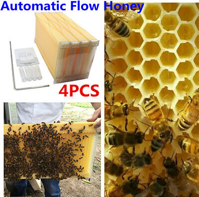 4PCS 2-Generation Upgraded Bee Hive Automatic Flow Honey Beekeeping Beehive Tool
