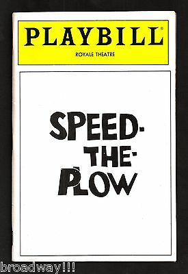 "Madonna (Debut) ""SPEED-THE-PLOW"" Joe Mantegna / Ron Silver '88 Broadway Playbill"