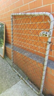 Vintage Chain Link Wire Mesh Garden Gate With Bolt