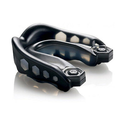 Shock Doctor Gel Max Convertible Strap/Strapless Mouthguard - Youth Black - NEW