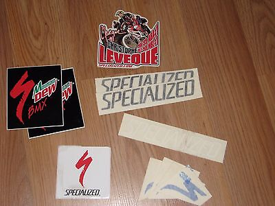 Specialized Bicycles Vintage BMX Sticker Lot!! Mountain Dew Christophe Leveque