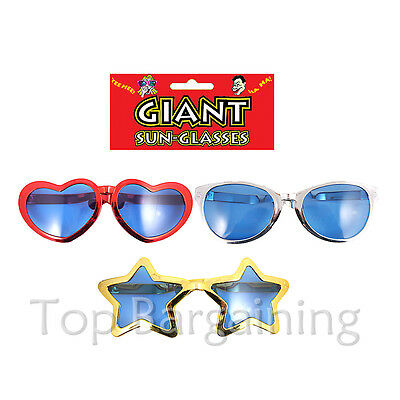 3 kinds GIANT BIG FUNNY SUNGLASSES - Fancy Dress Costume Accessory