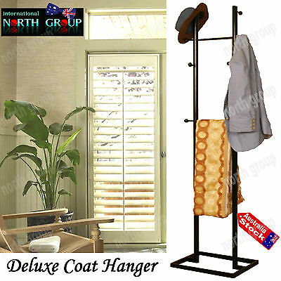 Butler Caddy Metal Coat Clothes Suit Hat Hanger Stand Rack Wardrobe Organiser
