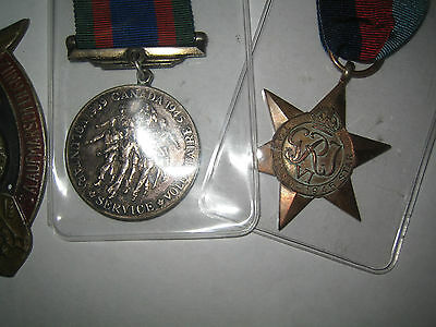 two medals  ww2 canada
