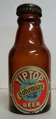 1930's Tip Top Bohemian Beer Mini Steinie Bottle - Cleveland, OH