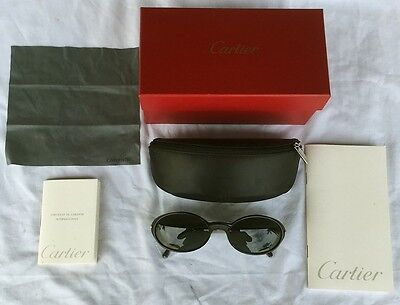 CARTIER WOMEN'S SUNGLASSES never used WITH COA BOX womens