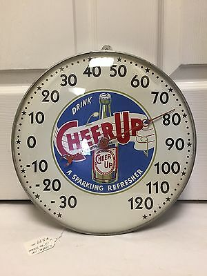 """Vintage Advertising Drink """"cheer Up"""" A Sparkling Refresher Thermometer, 421-Y"""