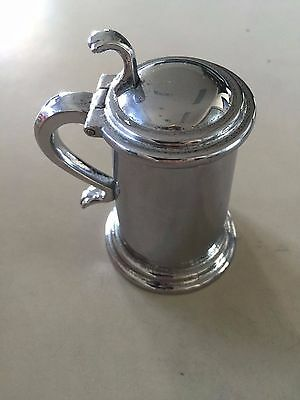 Vintage Dunhill Tankard style cigarette lighter silver plated table smoke rare