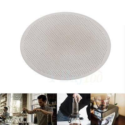 Washable Solid Ultra Fine Stainless Steel Coffee Filter Disk Mesh For AeroPress