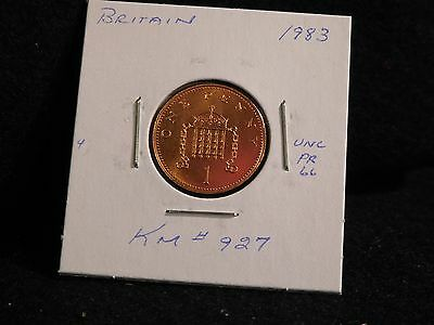 Uk (Great Britain): 1983  1 Penny  Coin  Proof  ( Unc.)  (#3721) Km #927
