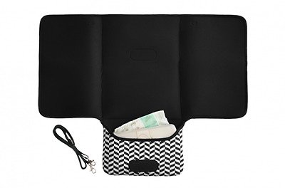 New JellyBones - Large Neoprene Mono Print 2 in 1 Baby Change Mat Clutch Free Ex