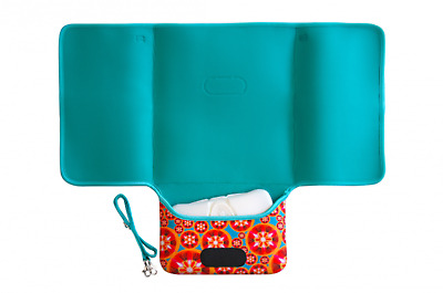 New JellyBones - Large Neoprene Kaleidoscope Print 2 in 1 Baby Change Mat Clutch