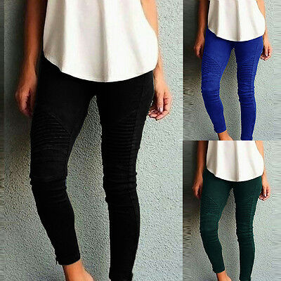 Womens High Waisted Stretchy Skinny Trouser Ladies Jeggings Pants Causl Leggings