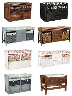 Wooden Ottoman Shoe Cabinet Storage Closet Rack Seat Bench Cabinet Entryway Hall