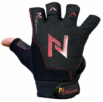 Gym Weight Lifting Gloves Fitness Training Body Building Leather Workout Cycling