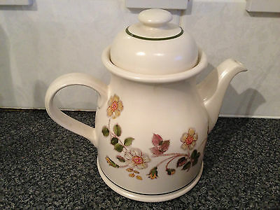 VINTAGE Marks & Spencer Autumn Leaves Large Coffee / Tea Pot Oven to Table Wear